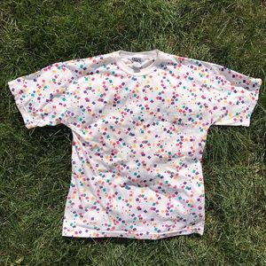 Vintage Colorful Abstract Squares T-shirt